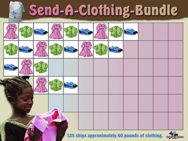Cothing Bundle Project Chart with stickers