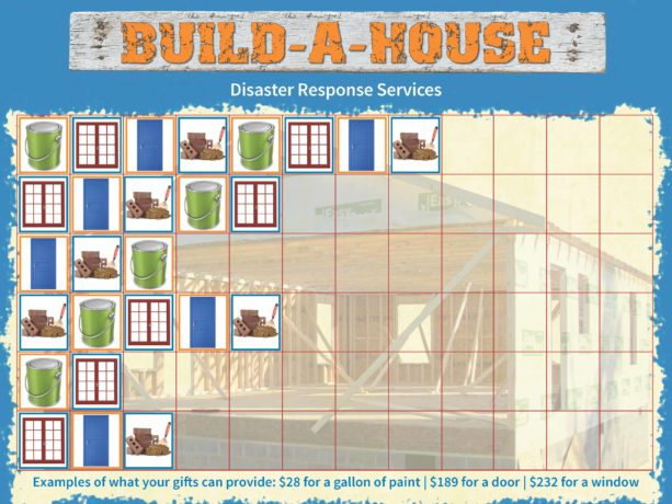 Disaster Response Services VBS kit chart with stickers