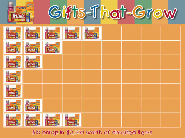 Gifts-That-Grow Chart with stickers