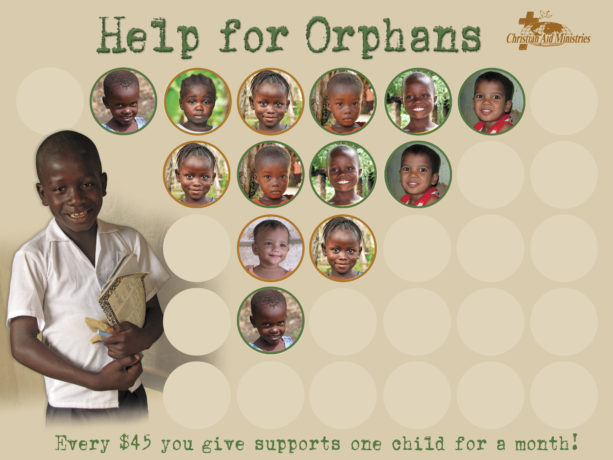 Help-for-Orphans chart with stickers