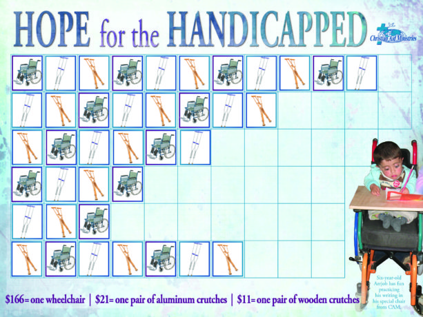 Hope-for-the-Handicapped chart with stickers