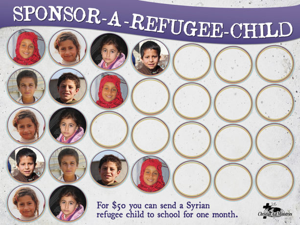Sponsor-A-Refugee-Child VBS kit chart with stickers