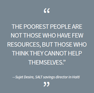 The poorest people are not those who have few resources, but those who think they cannot help themselves.