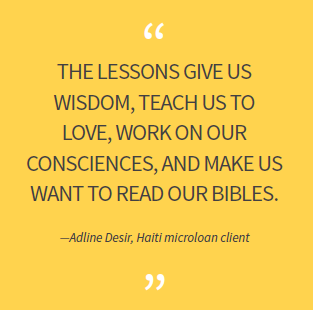The lessons give us wisdom, teach us to love, work on our consciences, and make us want to read our Bibles.