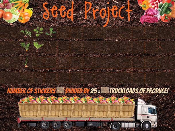 Seed Project Chart with stickers