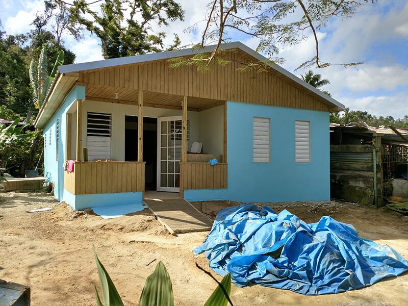 Rebuilding a Widow's Home (Hurricane Maria)
