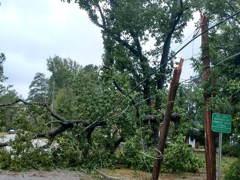 Hurricane damage in Lumberton, North Carolina