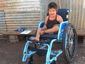 Bringing smiles with wheelchairs