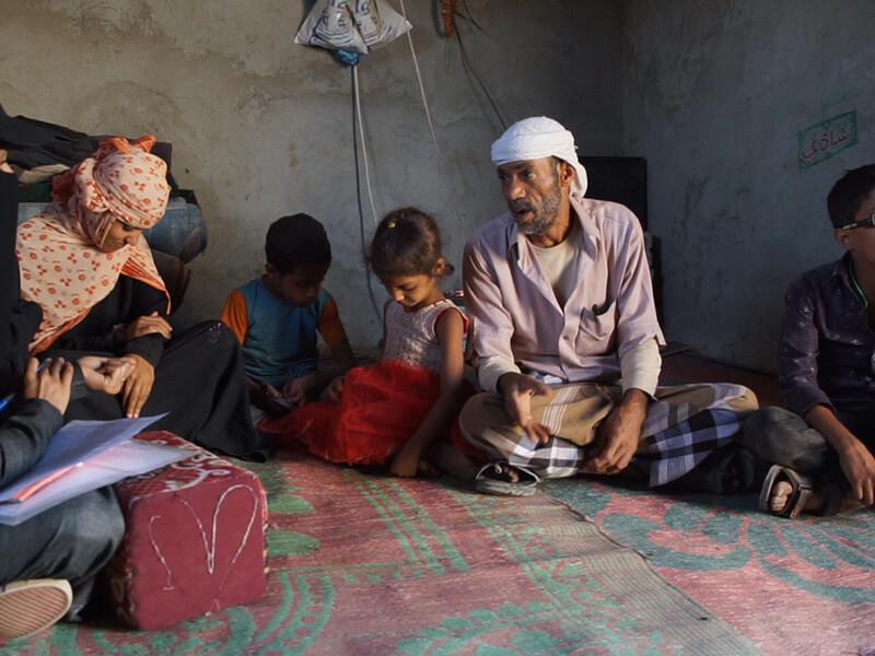 Hungry Family in Yemen