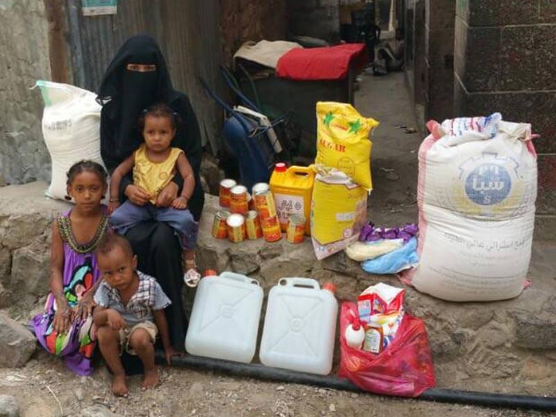 Homeless Mother and Children in Yemen