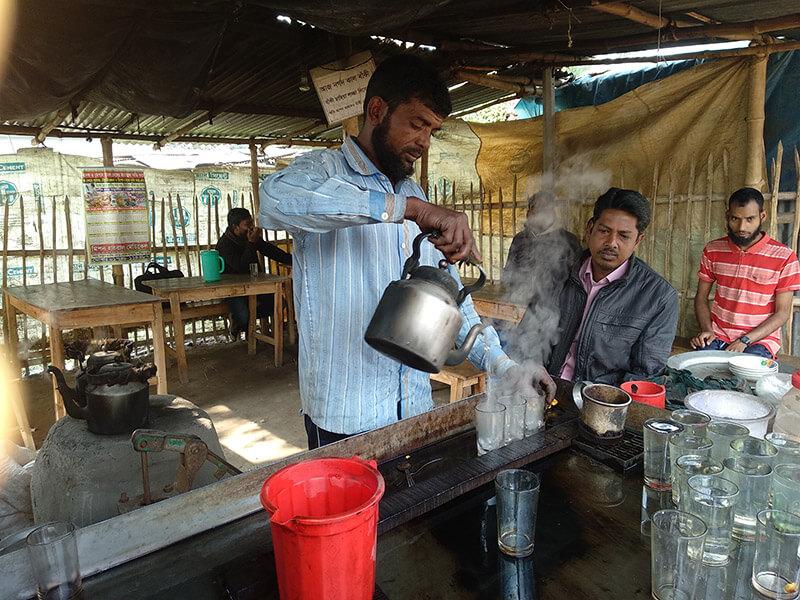tea shop in Bangladesh, Christian Aid Ministries